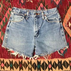Wrangler Shorts - Vintage Wrangler Cut Off High Waist Jean Shorts